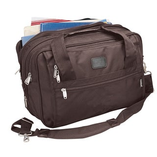 Goodhope Brown Ballistic Nylon Expandable Soft Briefcase