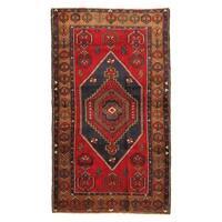 Turkish Anatolian Hand-woven Red-camel Lamb's Wool Area Rug (4' x 6')