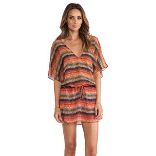 Vix Potira Lory Multicolor Blanket Stripe Coverup Kaftan