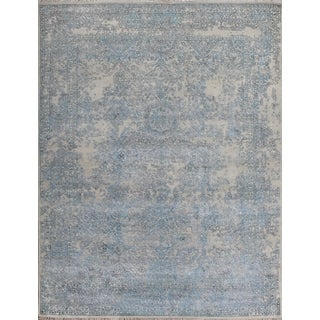 Pasargad Beautiful Transitiona Hand-knotted Silk and Wool Area Rug (9' x 12')