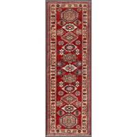 Pasargad Kazak Hand-knotted Rust-ivory Lamb's Wool Runner Rug (2' 4 x  7')
