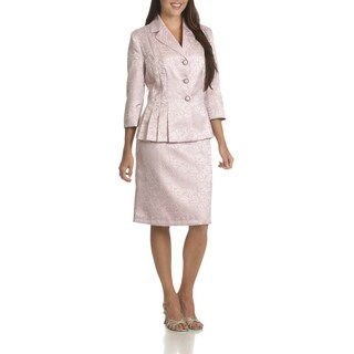 Danillo Women's Floral Pattern Polyester 2-piece Skirt Suit