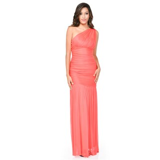 DFI One-shoulder Rouched Mermaid-style Long Dress