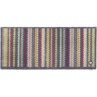 Hug Rug Eco-friendly Dirt Trapper Wavy Stripes Washable Runner Rug (2' x 5')