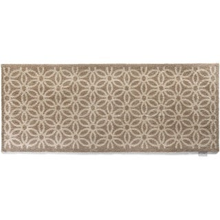 Hug Rug Eco-friendly Dirt Trapper Daisy Beige Washable Runner Rug (2' x 5')
