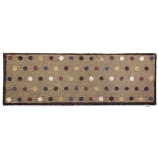 Hug Rug Eco-friendly Dirt Trapper Spotted Beige Washable Runner Rug (2' x 5')