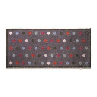Hug Rug Eco-friendly Dirt Trapper Spotted Blue Washable Runner Rug (2' x 5') - 2' x 5'