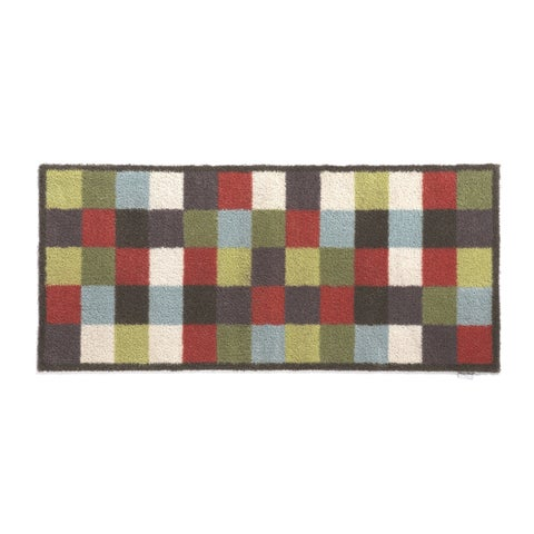 Hug Rug Eco-friendly Dirt Trapper Color Block Washable Runner Rug (2' x 5') - 2' x 5'
