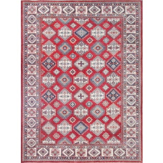 Pasargad Tribal Kazak Hand-knotted 'rust-ivory' Wool Area Rug (12' x 15')