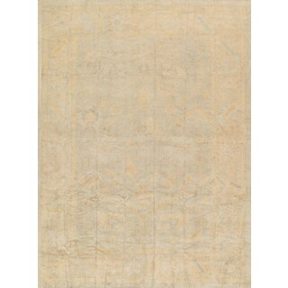 Pasargad Turkish Oushak Hand-knotted L.green-beige Wool Rug (10' x 14')