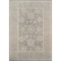 Pasargad Turkish Oushak Hand-knotted Grey Wool Rug (7' x 10')