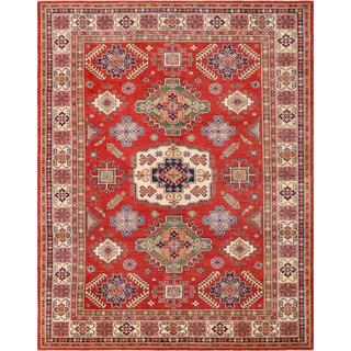 Pasargad Caucasian Kazak Hand-knotted Rust and Beige Wool Area Rug (9' x 11')