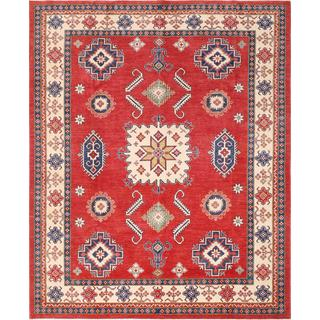 Pasargad Kazak Hand-knotted Rust and Beige Wool Rug (9' x 11')