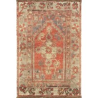 Pasargad Turkish Oushak Hand-knotted Coral-beige Wool Rug (3' x 6') - 3' x 6'