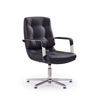 Princeton Black Faux Leather Visitor Office Chair