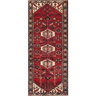 Persian Bakhtiari Red-ivory Wool Runner Rug (3' 8 x 9' 2)