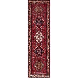 Vintage Persian Bakhshayesh Red-ivory Wool Runner Rug (3' 2 x 10' 8)