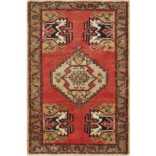 Pasargad Turkish Oushak Hand-knotted Coral-beige Wool Rug (2' x 3')