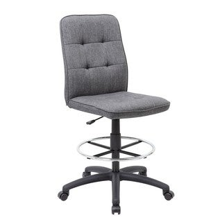 Boss Fabric Modern Ergonomic Drafting Chair
