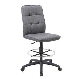 Boss Fabric Modern Ergonomic Drafting Chair