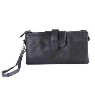 Diophy High-quality Fashion Vintage-dye Leather Clutch Wallet