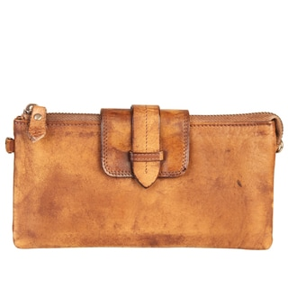Diophy High-quality Fashion Vintage-dye Leather Clutch Wallet