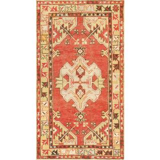 Pasargad Turkish Oushak Hand-knotted Coral-beige Wool Rug (3' x 5')