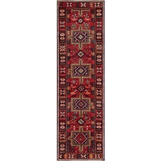 Vintage Persian Karajeh Red Wool Runner Rug (3' 2 x 10' 8)