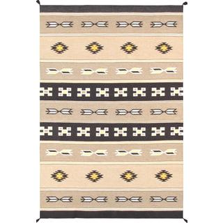Decorative Hand-woven Wool Area Rug (5' 11 x 8' 11)