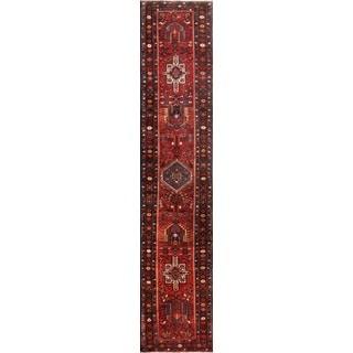 Vintage Persian Karajeh Rust Wool Runner Rug (3' x 14' 10)