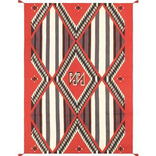 Decorative Hand-woven Wool Area Rug (5' x 7' )