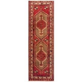 Vintage Persian Serab Camel-ivory Runner Rug (3' 3 x 10' 4)