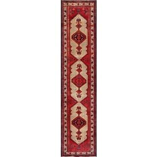 Vintage Persian Serab Camel-ivory Wool Runner Rug (3' 1 x 13' 9)
