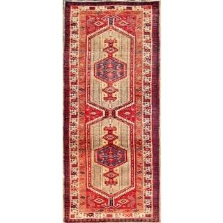 Vintage Persian Serab Camel-beige Wool Runner Rug (3' 1 x 11' 9)
