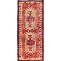 Vintage Persian Serab Camel-beige Wool Runner Rug - 3' 1 x 11' 9