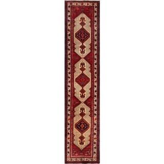 Vintage Persian Serab Camel-ivory Wool Runner Rug (3' 1 x 14' 3)