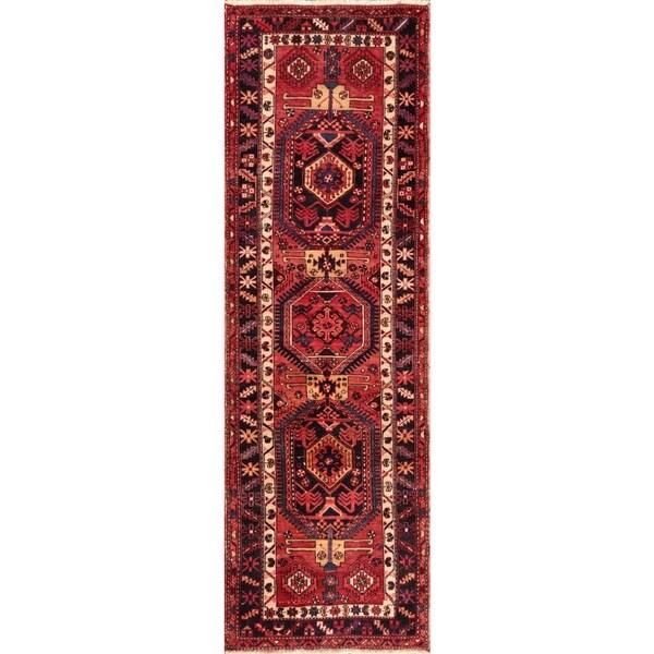Shop Vintage Persian Heriz Wool Rust-navy Area Rug (3' 6 X