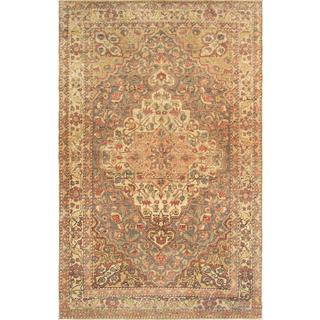 Turkish Sivas Silver-beige Wool Area Rug (5' x 7' 9)