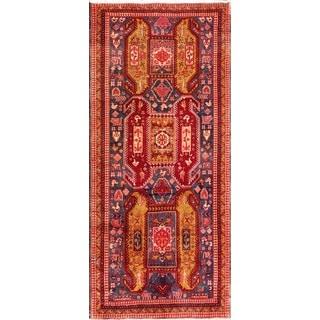 Vintage Persian N.w Red Wool Area Rug (4' 6 x 10' 2)