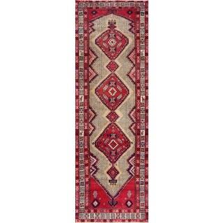 Vintage Persian Serab Camel-ivory Wool Runner Rug (3' 5 x 10' 2)