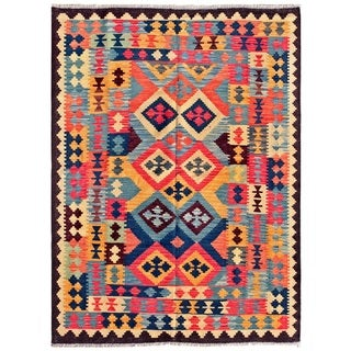 Pasargad Turkish Kilim Multi Medallion Area Rug (4' 9 x 6' 6)