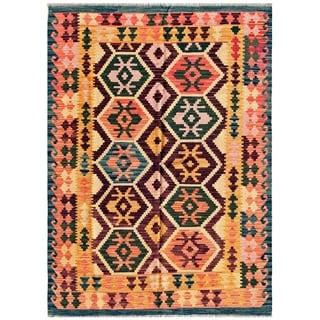 Pasargad Turkish Kilim Hand-woven Multi Color Rug (4' 9 x 6' 7)
