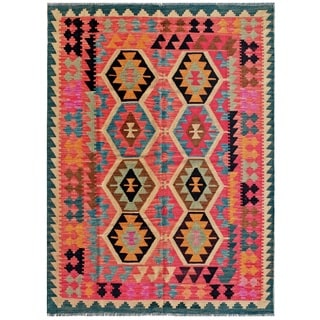 Pasargad Turkish Kilim Hand-woven Multi Area Rug (4' 11 x 6' 7)
