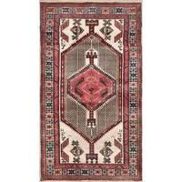 Vintage Persian Serab Ivory Wool Area Rug - 3' 3 x 5' 9