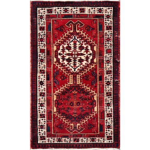 Vintage Persian Serab Camel-ivory Wool Area Rug - 3' x 5'