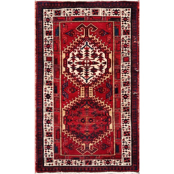 Vintage Persian Serab Camel-ivory Wool Area Rug - 3' 1 x 5' 3