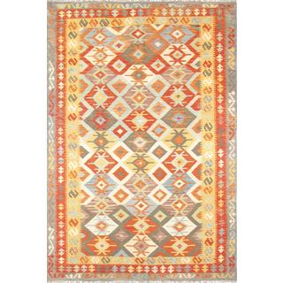Pasargad Turkish Kilim Hand-knotted Square Multi Rug (6' 5 x 6' 5)