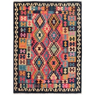 Pasargad Turkish Kilim Multi Color Rug (4' 10 x 6' 5)