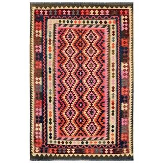 Pasargad Turkish Handmade Kilim Multi Rug (6' 4 x 10' )