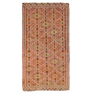 Pasargad Turkish Kilim Hand-woven Multi Color Rug (4' 6 x 8' 6)